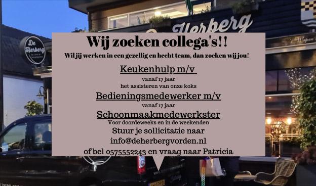 Wij zoeken collega s - De Herberg Vorden